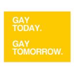 GAY HOY. GAY MAÑANA TARJETA POSTAL
