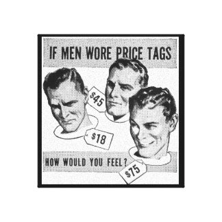 "Gay humor from vintage ""Ooops files"". Gallery Wrapped Canvas"