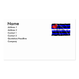 GAY HUMOR LEATHER PRIDE FLAG BUSINESS CARDS