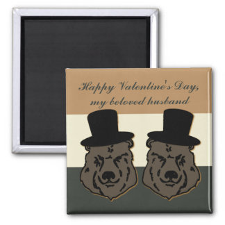 Gay Husband Bear Pride Valentine Magnet