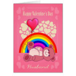 Gay, Husband, Valentine's Day With Teddy Bear Card