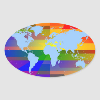 """""""Gay I Am""""  World Map Stickers"""