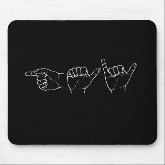 Gay in Sign Language Pickup Line Mousepad