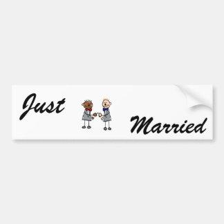 Gay Interracial Couple Bumper Sticker