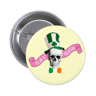 Gay Irish  St Patrick's day Pinback Buttons