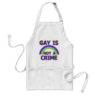 Gay Is Not a Crime Tshirts, Sweats, Hoodies Adult Apron
