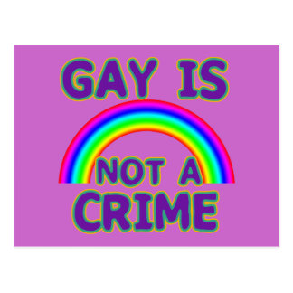 Gay Is Not a Crime Tshirts, Sweats, Hoodies Postcard