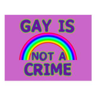 Gay Is Not a Crime Tshirts, Sweats, Hoodies Postcard