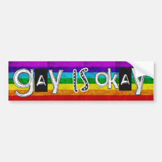 gay is okay bumper sticker