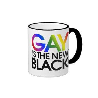 Gay is the new Black Ringer Mug