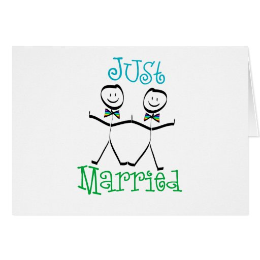 Gay Just Married Card