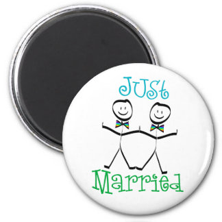 Gay Just Married Favors 2 Inch Round Magnet