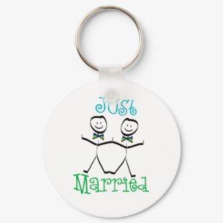 gay wedding keychain