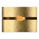 """Gay/Lesbian Gold & Chocolate Brown Yellow Flowers 4.5"""" X 6.25"""" Invitation Card"""