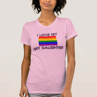 Gay & Lesbian - I Love my gay daughter T-Shirt