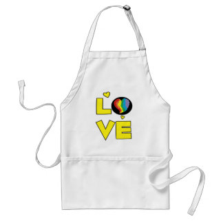 "Gay Lesbian ""Love"" Pride Heart Gifts Adult Apron"