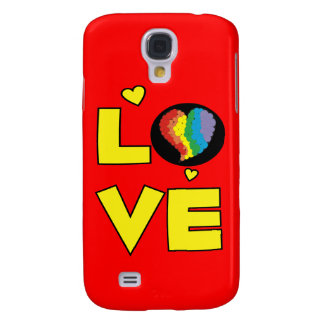 """Gay Lesbian """"Love"""" Pride Heart Gifts Samsung Galaxy S4 Cases"""