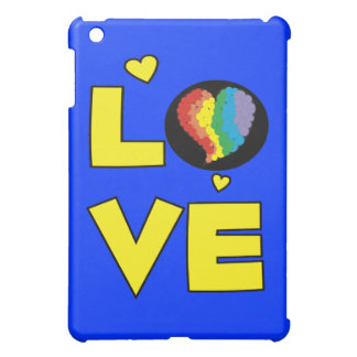 """Gay Lesbian """"Love"""" Pride Heart Gifts Case For The iPad Mini"""