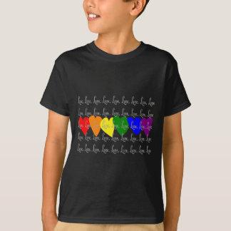 "Gay/Lesbian ""Love"" Twisted Rainbow hearts T-Shirt"