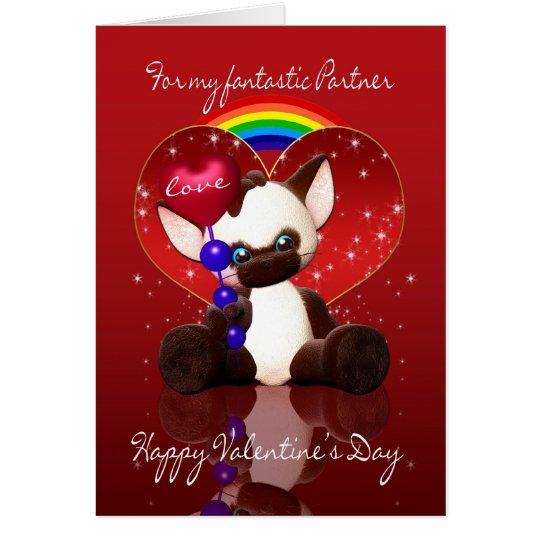 gay / lesbian partner valentine's day card - cute | zazzle, Ideas