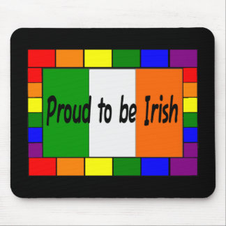 "Gay/Lesbian ""Proud tobe Irish"" Rainbow Gifts Mouse Pad"