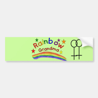 """Gay Lesbian """"Rainbow Grandma"""" Car Bumper Sticker"""