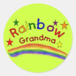 "Gay Lesbian ""Rainbow Grandma"" Round Stickers"