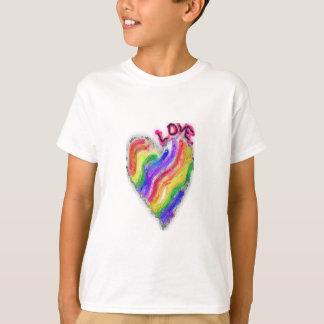 "Gay Lesbian Rainbow Heart ""Love"" T-Shirt"