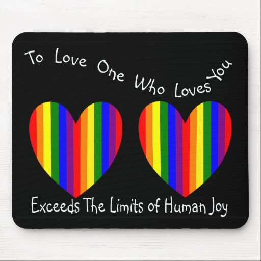 Gay/Lesbian Valentine Cards and Gifts Mouse Pad