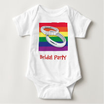 Gay Lesbian Wedding Baby Bodysuit