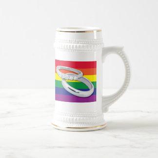 Gay Lesbian Wedding Beer Stein