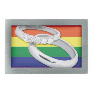 Gay Lesbian Wedding Belt Buckle
