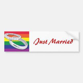 Gay Lesbian Wedding Bumper Sticker