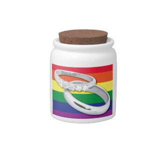 Gay Lesbian Wedding Candy Dish