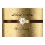 """Gay Lesbian Wedding Invitation Gold/Chocolate 5"""" X 7"""" Invitation Card"""