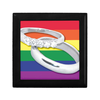 Gay Lesbian Wedding Jewelry Box