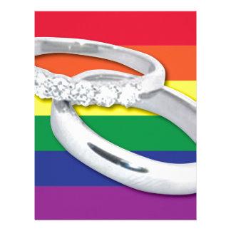 Gay Lesbian Wedding Letterhead Design
