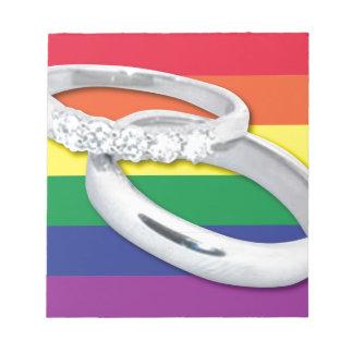 Gay Lesbian Wedding Memo Note Pad