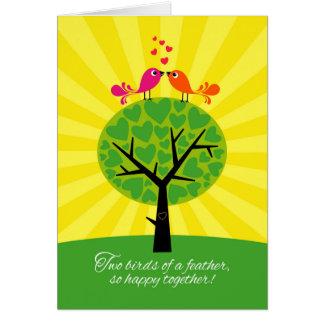 Gay Lesbian Wedding or Civil Union Congratulations Greeting Card