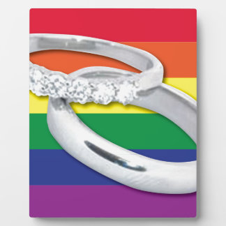 Gay Lesbian Wedding Plaque