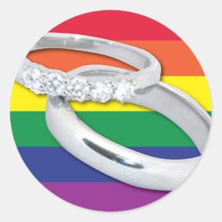 Gay Lesbian Wedding Stickers