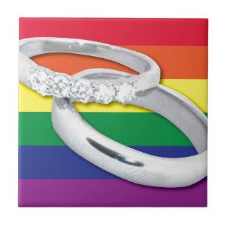 Gay Lesbian Wedding Tile