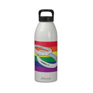 Gay Lesbian Wedding Water Bottles