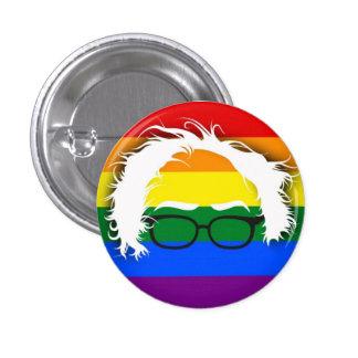Gay/lesbiana para las chorreadoras de Bernie Pin Redondo De 1 Pulgada