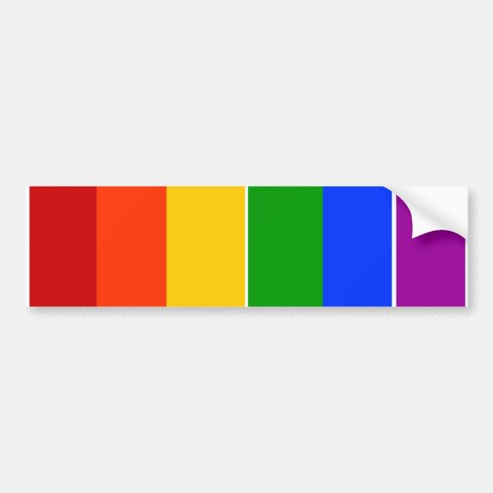 GAY LGBT RAINBOW BUMPER STICKER