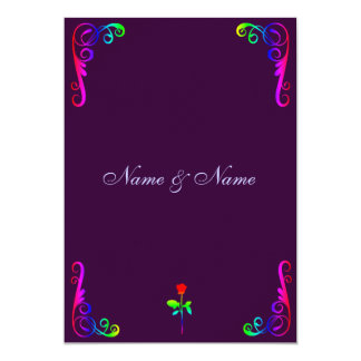 Gay LGBT Wedding Invitation- Rainbow & Purple Invitation