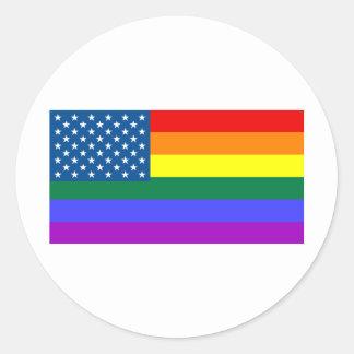Gay los E.E.U.U. Pegatina Redonda