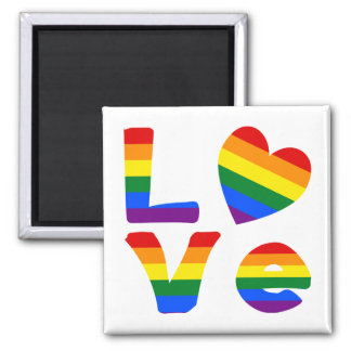 Gay Love Rainbow Magnet
