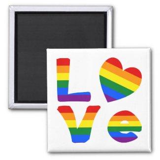 Gay Love Rainbow Refrigerator Magnet