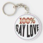 Gay Love Tag Keychains